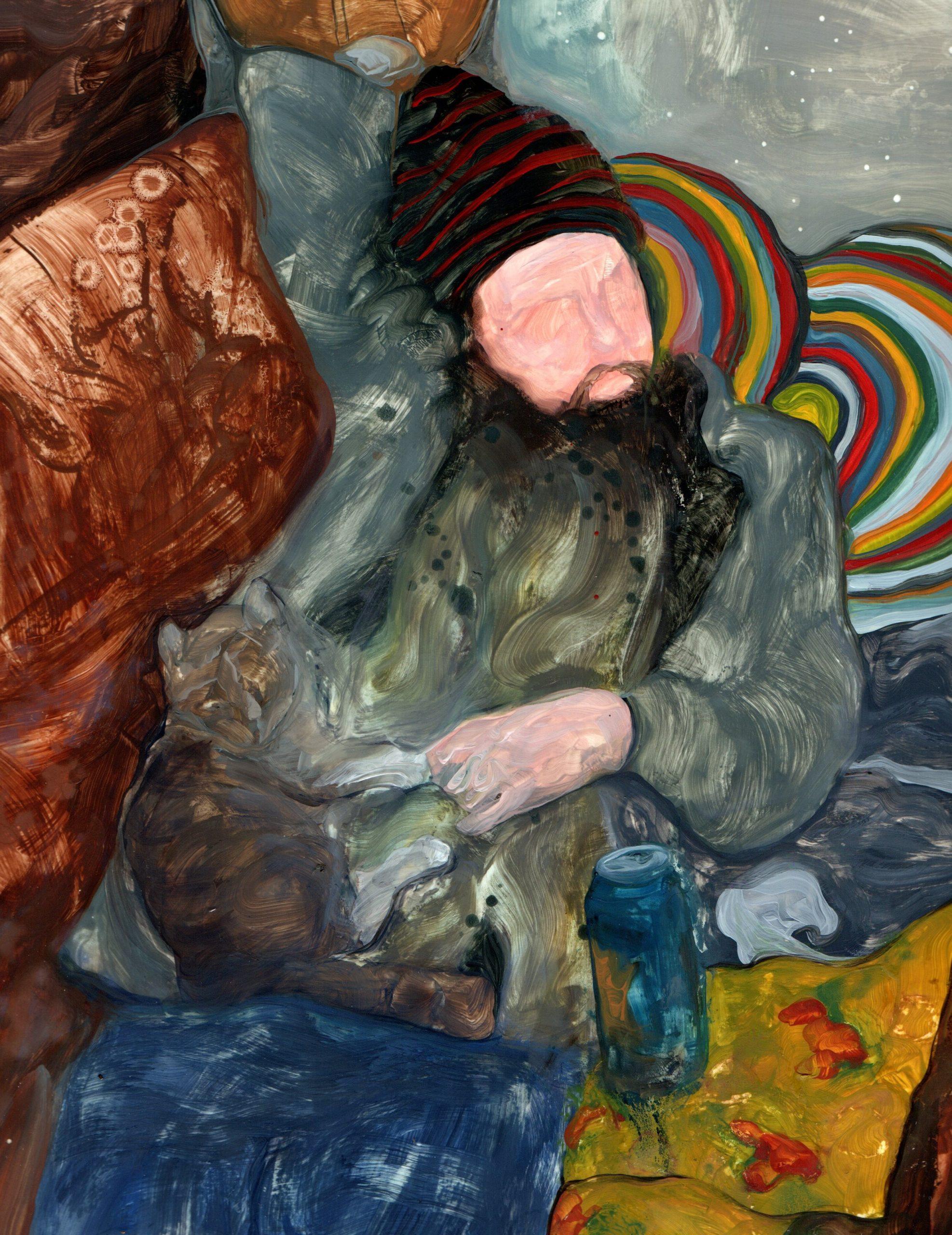 Ett av konstverken som ställs ut i Vattenlagret. Konstnär: Aleksi Systä.