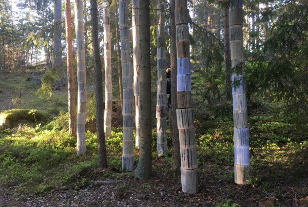 Konstverket Den skrivna skogen, Barfotastigen i Korpo
